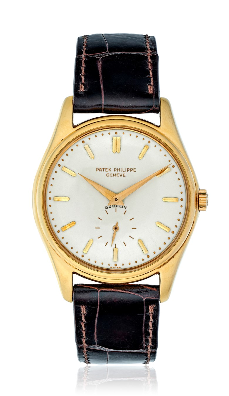 Patek Philippe, Gubelin, Ref. 2526, circa 1954. 18k yellow gold; diameter 35mm. Estimate $24,000-45,000. This lot is offered in Christie's Watches Online Time for Spring, Feb 27–March 13, Online