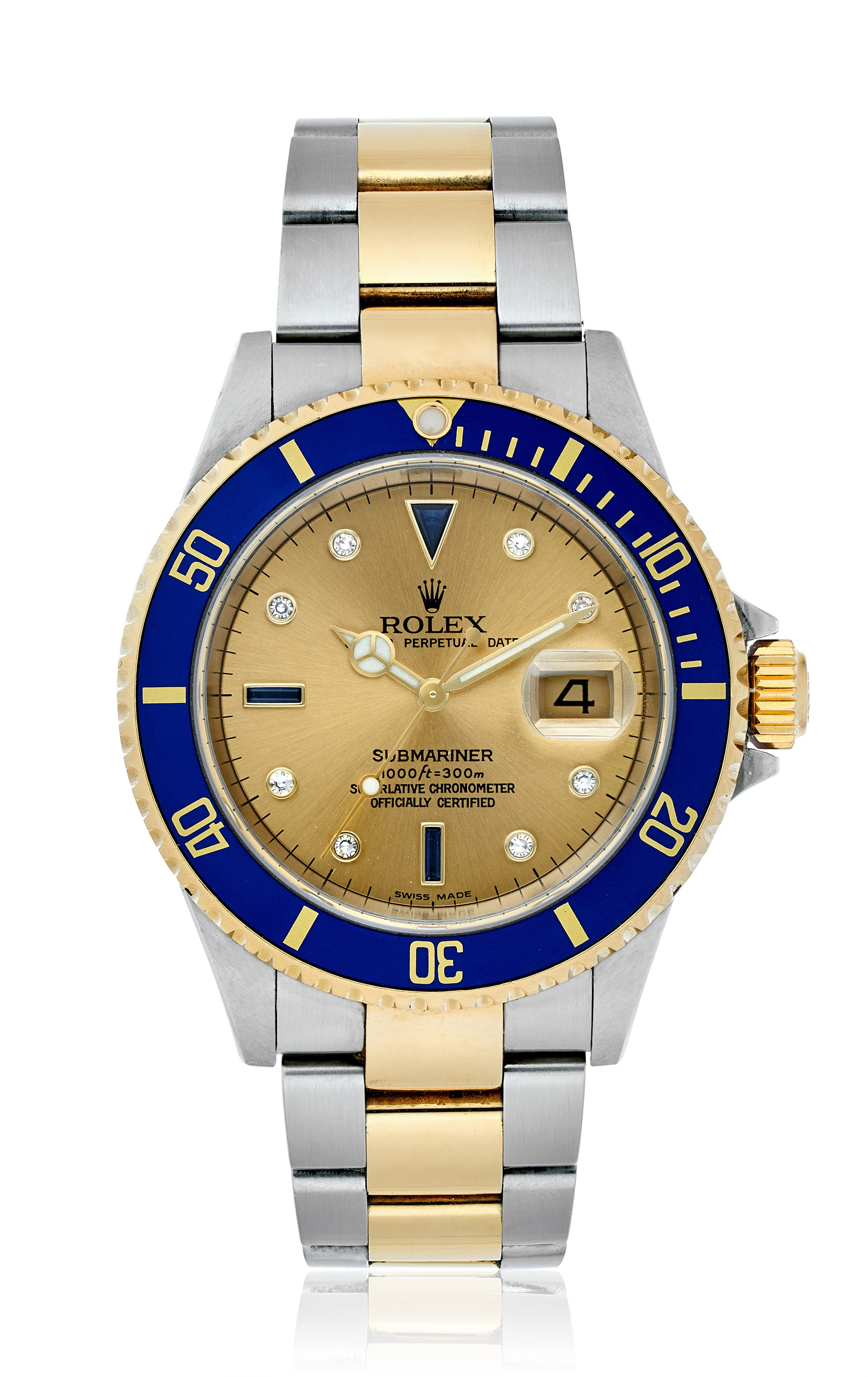 "ROLEX, TWO-TONE SUBMARINER ""SERTI DIAL"", REF. 16613 T"