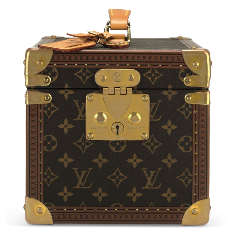 A classic monogram canvas hardsided train case with brass hardware, Louis Vuitton, 2000s. 30 w x 20 h x 21 d cm. Estimate                    $1,500-2,400. Offered in Handbags & Accessories, 29 May to 19 June 2018, Online