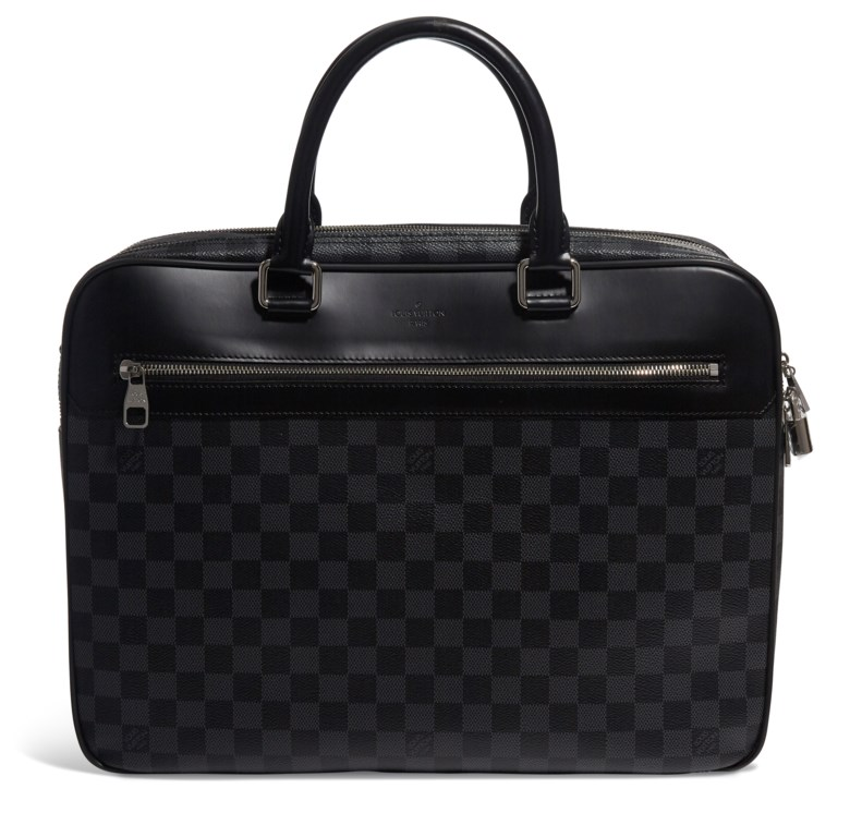 A Damier graphite canvas overnight bag, Louis Vuitton, 2017. 41 w x 30 h x 15 d cm. Estimate $2,000-3,000. This lot is offered in  Handbags & Accessories, 20 November to 5 December 2018, Online