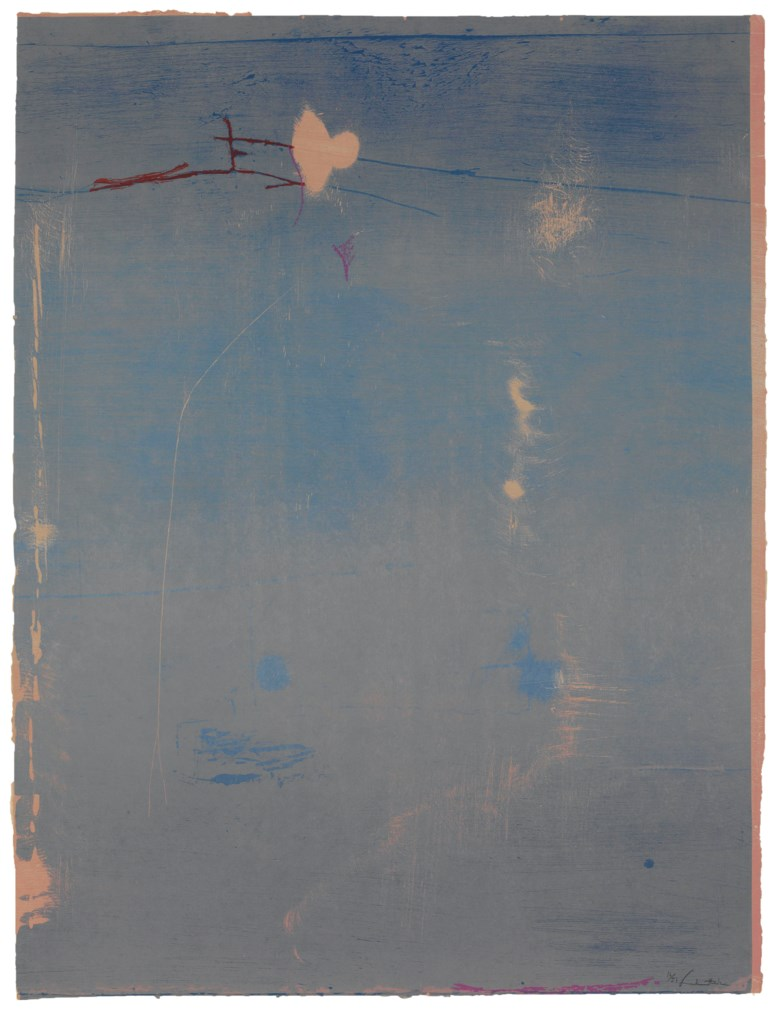 Helen Frankenthaler (1928-2011), Cameo. Sheet 42 x 32⅛ in (1067 x 816 mm). Estimate                    $4,000-6,000. Offered in Contemporary Edition, 9-17 July 2018, Online