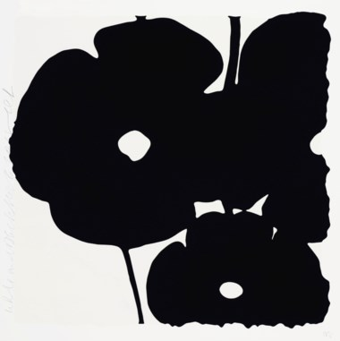 Donald Sultan (b. 1951), White and Black, Nov 6, 2015, from Reversal Poppies. Estimate                    $2,000-3,000. Offered in Contemporary Edition, 9-17 July 2018, Online