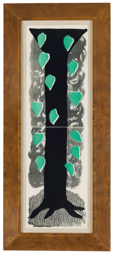 David Hockney (b. 1937), The Tall Tree, 1986. Sheet 28 x 8½ in (711 x 216 mm). Estimate $4,000-6,000. Offered in Contemporary Edition, 9-17 July 2018, Online