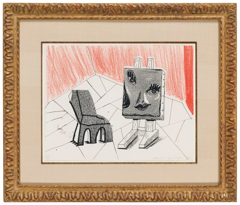 David Hockney (b. 1937), Celia with Chair, 1986. Sheet 8⅜ x 10⅞ in (213 x 276 mm). Estimate $3,000-5,000. Offered in Contemporary Edition, 9-17 July 2018, Online