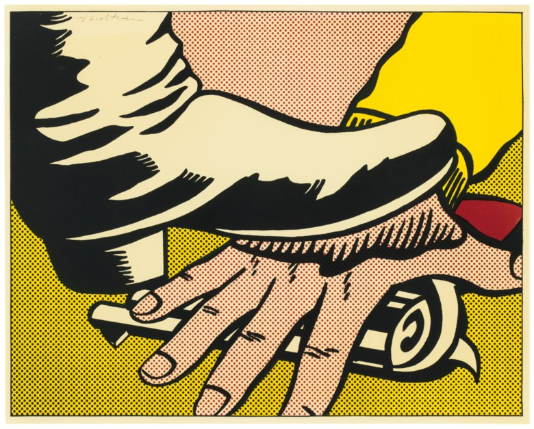 Roy Lichtenstein (1923-1997), Foot and Hand. Estimate                    $6,000-8,000. Offered in Contemporary Edition, 9-17 July 2018, Online
