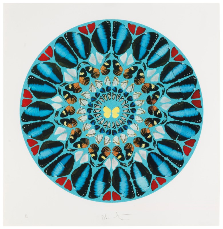 Damien Hirst (b. 1965), Ad te, Domine, Levavi, from Psalm Prints. Estimate                    $7,000-10,000. Offered in Contemporary Edition, 9-17 July 2018, Online