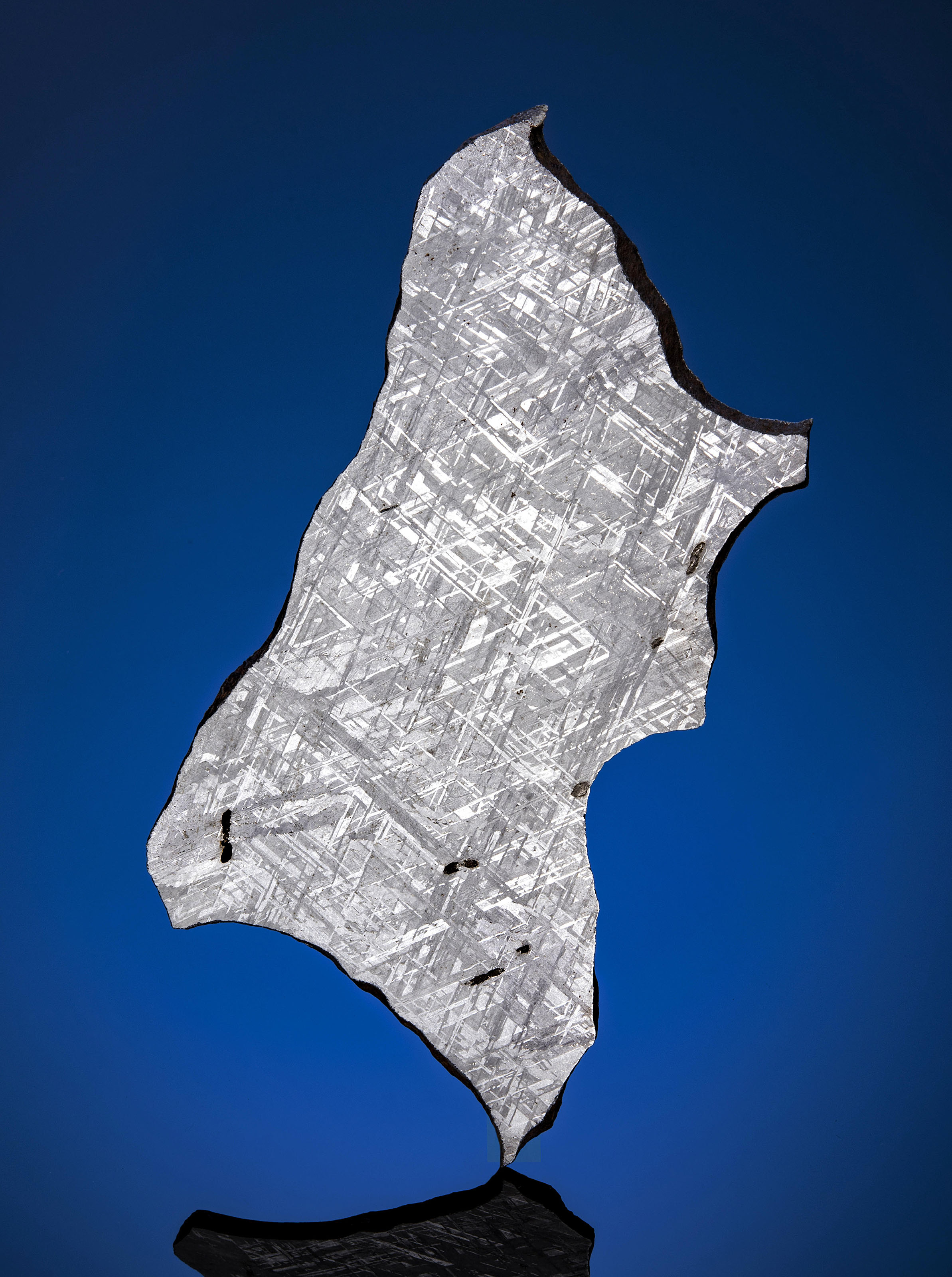 SLICE OF A GIBEON METEORITE — AN OTHERWORLDLY MOSAIC