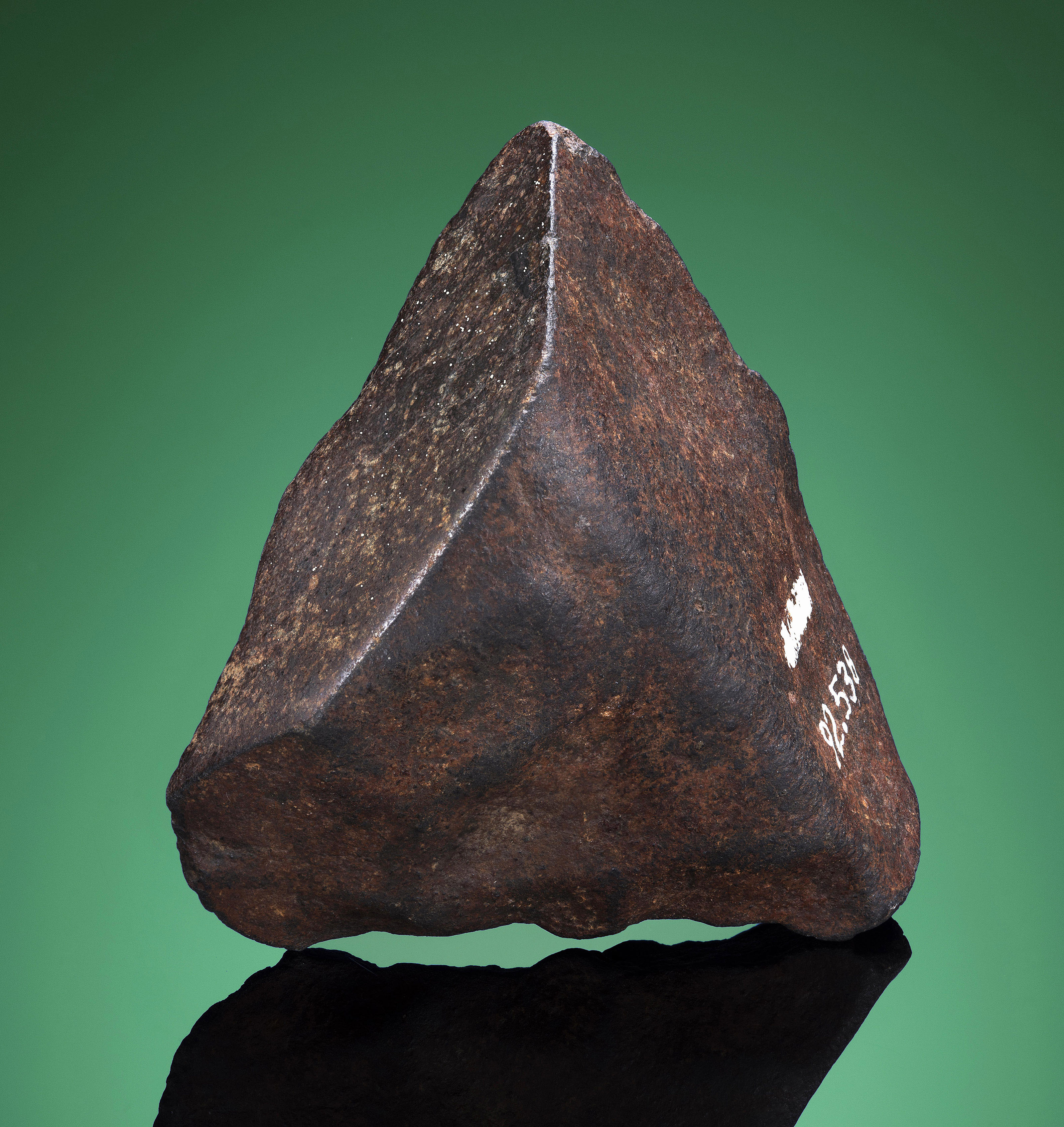 PLAINVIEW METEORITE END PIECE WITH H.H. NININGER PROVENANCE