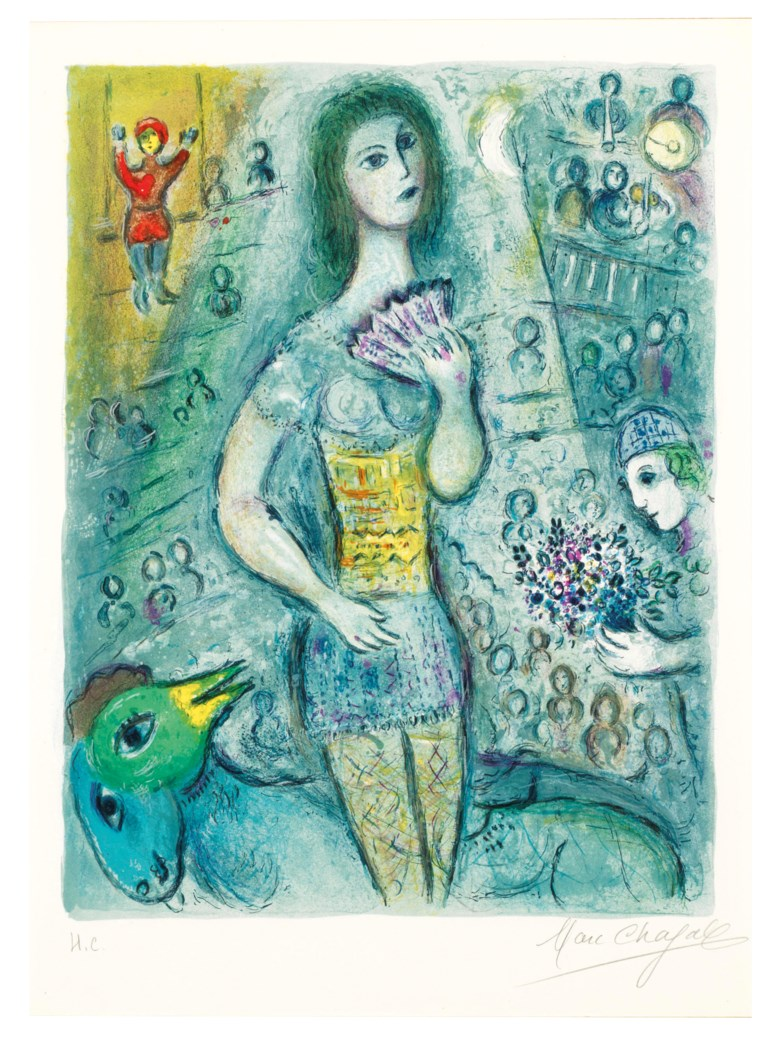 Marc Chagall (1887-1985), Le Cirque one plate. Estimate                    $25,000-35,000. This lot is offered in Marc Chagall Le Cirque, 19 February to 1 March 2018, Online