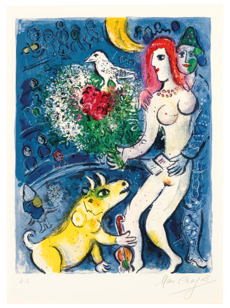 Marc Chagall (1887-1985), Le Cirque one plate. Estimate                    $20,000-30,000. This lot is offered in Marc Chagall Le Cirque, 19 February to 1 March 2018, Online