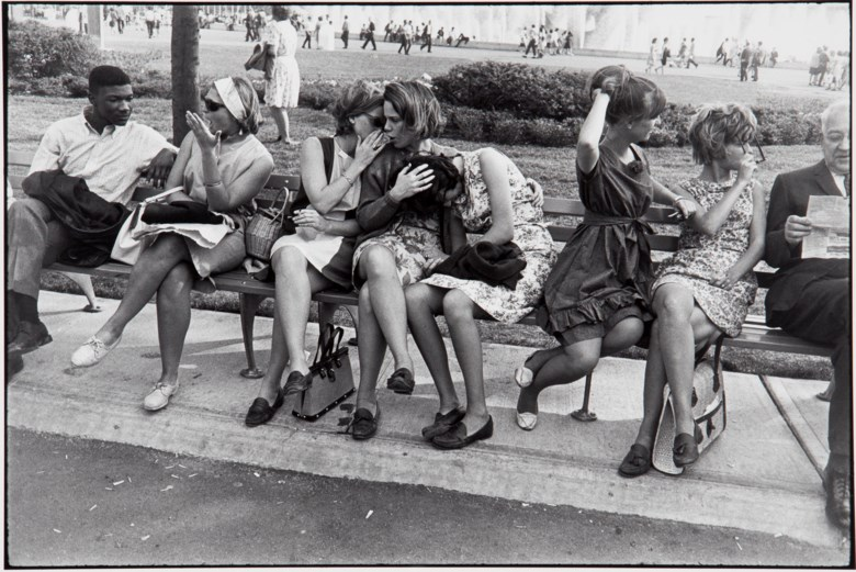 Garry Winogrand (1928-1984), World's Fair, New York City, from Women Are Beautiful, 1964. This work is number 48 from the edition of 80 from the portfolio Women Are Beautiful (New York RFG Publishing, 1981). Sheet 11 x 14 in (28 x 35.7 cm). Estimate $8,000-12,000. This lot is offered in MoMA Garry Winogrand, 16-25 January 2018, Online