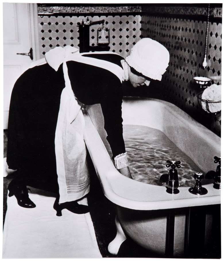 Bill Brandt (1904-1983), Parlourmaid Preparing a Bath Before Dinner, c. 1937. Imagesheet 14 x 12 in (35.5 x 30.4 cm). Estimate                    $3,000-5,000. This lot is offered in MoMA Bill Brandt, 16-24 January 2018, Online