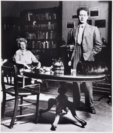 Bill Brandt (1904–1983), Dylan Thomas and his wife, Caitlin, in their room, Manresa Road, Chelsea, 1944. Imagesheet 17⅛ x 14½ in (43.4 x 36.8 cm). Estimate                    $3,000-5,000. This lot is offered in MoMA Bill Brandt, 16-24 January 2018, Online