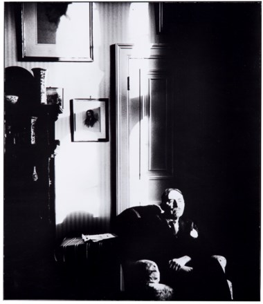 Bill Brandt (1904-1983), E.M. Forster in His Room at Kings College, Cambridge, 1947. Imagesheet 14 x 12 in (35.5 x 30.4 cm). Estimate                    $5,000-7,000. This lot is offered in MoMA Bill Brandt, 16-24 January 2018, Online