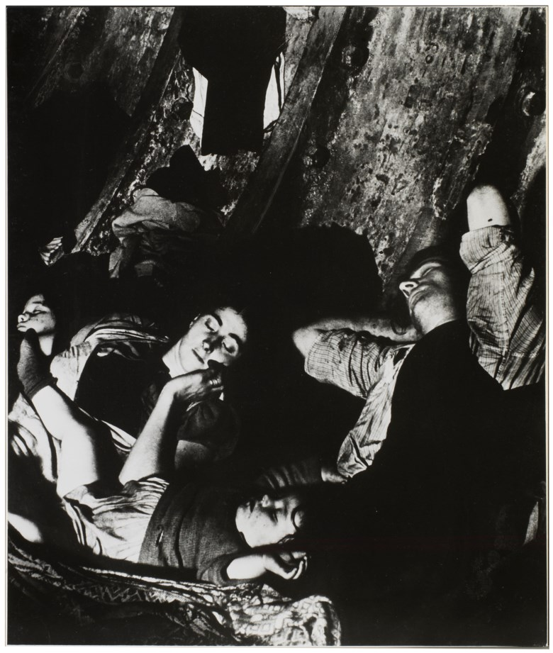 Bill Brandt (1904-1983), Crowded, Improvised Air-Raid Shelter in a Liverpool Street Tube Tunnel, 1940. Imagesheetflush mount 24¼ x 20⅝ in (61.5 x 52.3 cm). Estimate                    $5,000-7,000. This lot is offered in MoMA Bill Brandt, 16-24 January 2018, Online