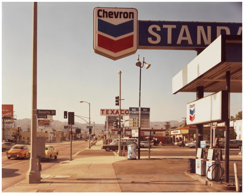 Stephen Shore (b. 1947), La Brea Avenue and Beverly Boulevard, Los Angeles, June 21, 1975. Sheet 11 x 14 in (28 x 35.5 cm). Estimate                    $10,000-15,000. Offered in Stephen Shore Vintage Photographs, 22-30 May 2018, Online