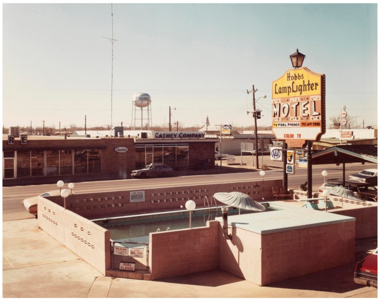 Stephen Shore (b. 1947), Marland Street, Hobbs, New Mexico, February 19, 1975. Sheet 16 x 20 in (40.6 x 50.8 cm). Estimate                    $10,000-15,000. Offered in Stephen Shore Vintage Photographs, 22-30 May 2018, Online