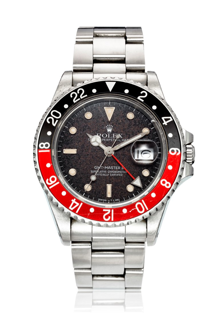 Rolex, GMT-Master II Fat Lady, Ref. 16760. Bracelet 6.9 inches  175mm. Estimate                    $15,000-25,000. Offered in Christies Watches Online Summer Watch Series Part II, 28 June to 12 July 2018, Online